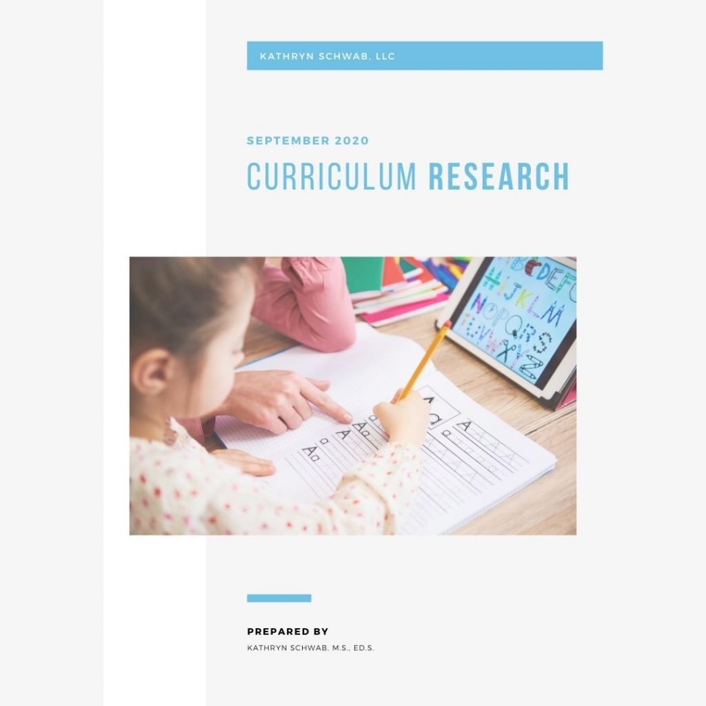 Curriculum Research Project